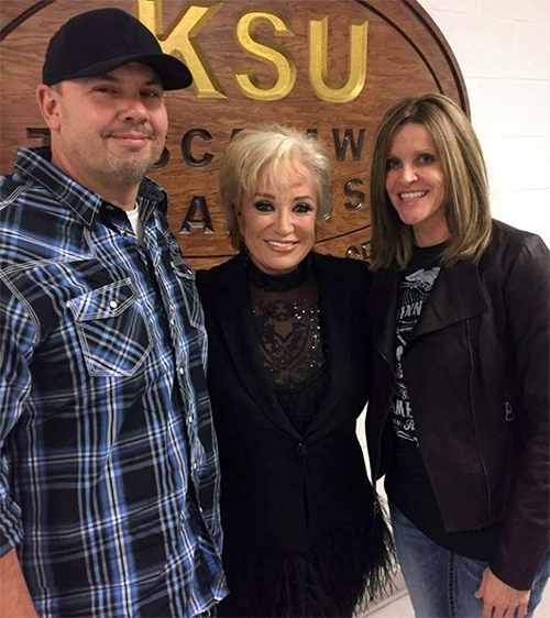 Shane Grove backstage with Tanya Tucker