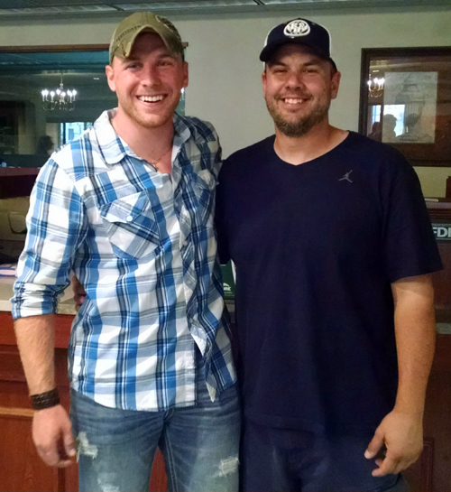 Shane Grove (R) with Eric Sowers